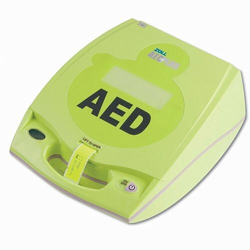 Zoll AED Plus CPR Feedback Semi-Automatic Defibrillator - Clear Verbal Instructions - Real CPR Help technology - Rugged design, Portable and Lightweight - Automatic self-testing - uses Duracell 123a batteries - 5002002