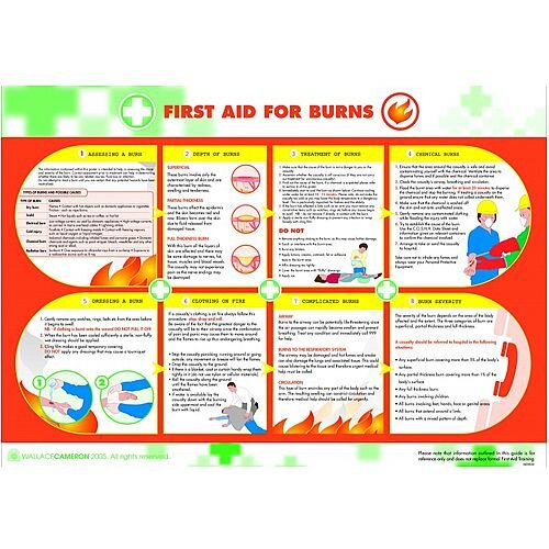 Burns First Aid Poster 5405034