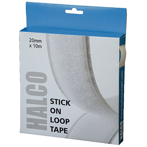 Halco Stick On Loop Roll 20mm x 10m
