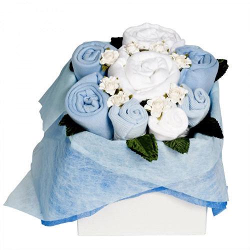 The Flower Stork Cornflower Blue Blossom Box