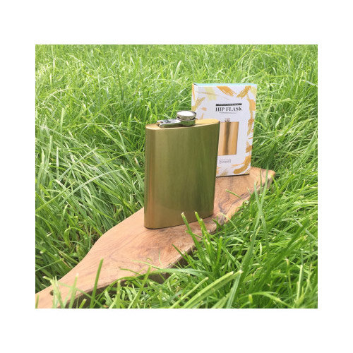 Metallic Gold Effect Hip Flask