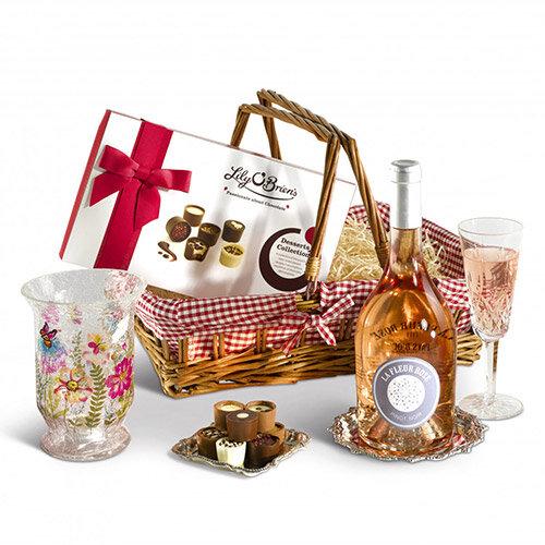 Hurricane Lamp &Wine Gift