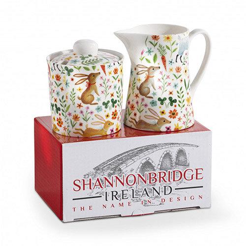 Shannonbridge Irish Pottery -  Meadows Milk Jug &Sugar Gift Set