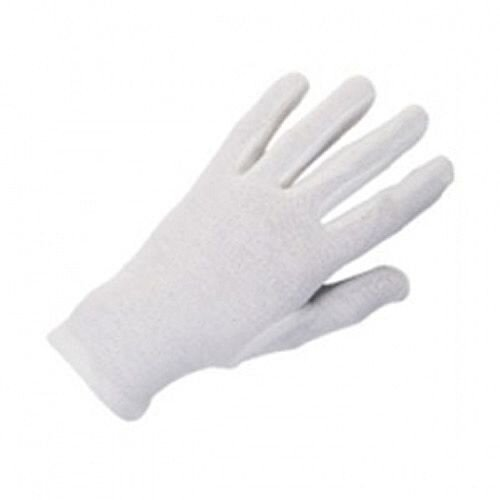 "HPC Knitted Cotton Gloves Medium 8""-9"" White Pack of 10 GI/NCWO"
