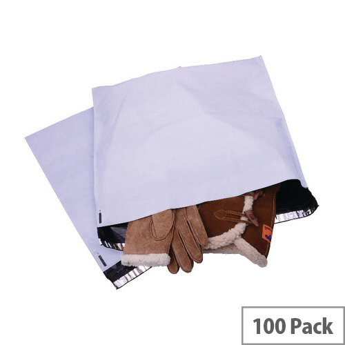 Strong Polythene Mailing Bag 460x430mm White Opaque Pack of 100