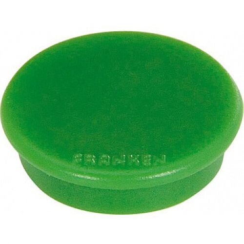 Franken Plastic Magnets Round 20mm Green Pack of 10 HMG20 02