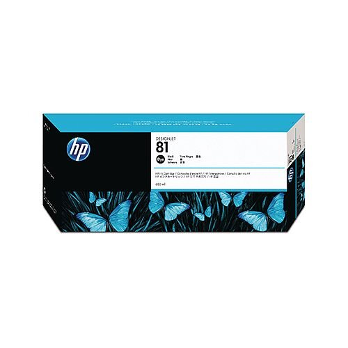 HP 81 Black Inkjet Cartridge Dye Ink C4930A