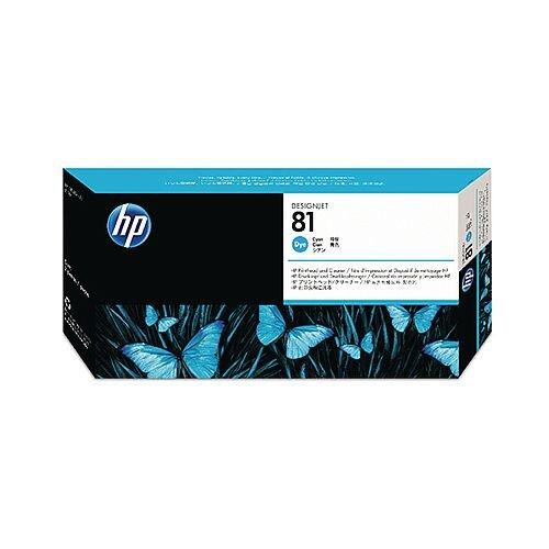 HP 81 Cyan Dye Print Head and Cleaner C4951A