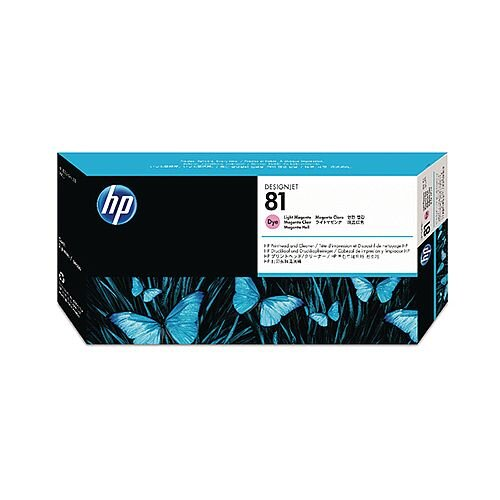 HP 81 Light Magenta Dye Print Head and Cleaner C4955A