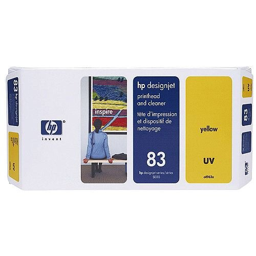 HP 83 UV Print Head and Cleaner Yellow C4963A