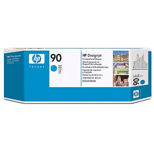 Hewlett Packard No 90 Cyan Printhead/Cleaner C5055A