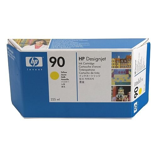 Hewlett Packard No90 Inkjet Cartridge 225ml Yellow C5064A