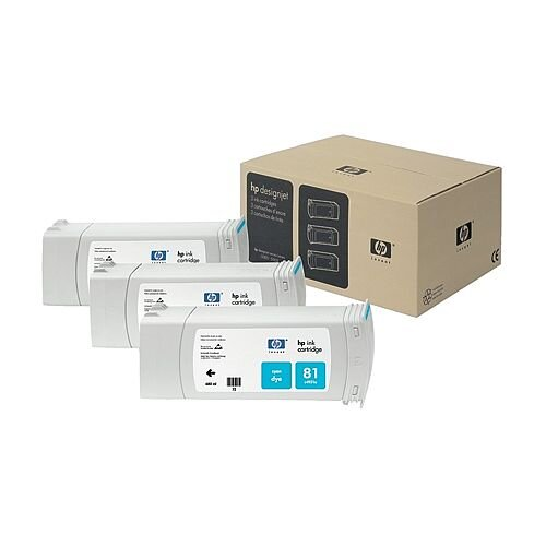 HP 81 Cyan DesignJet Dye Ink Cartridges C5067A