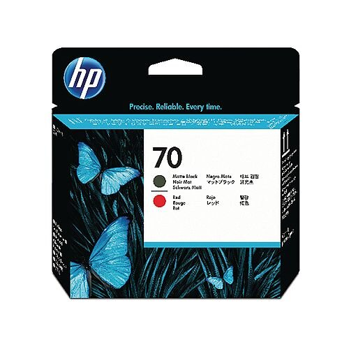 HP 70 Black/Red Print Head Twin Pack C9409A