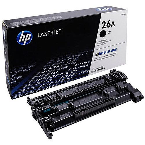 HP 26A Black Toner Cartridge HP Laser & MF Printers Compatible, Reliable & High Quality Printing With Great Yield, Recyclable Cartridges