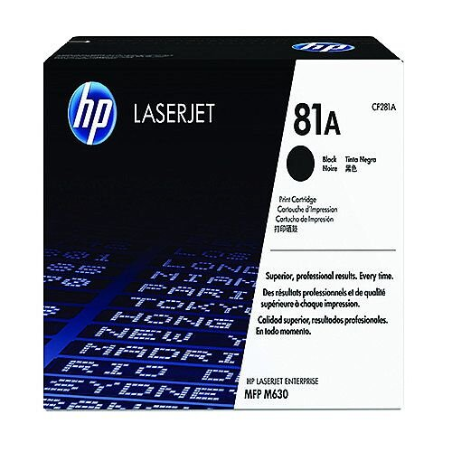 HP 81A Original LaserJet Cartridge Black CF281A