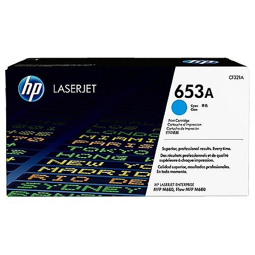 HP 653A Cyan LaserJet Toner Cartridge CF321A