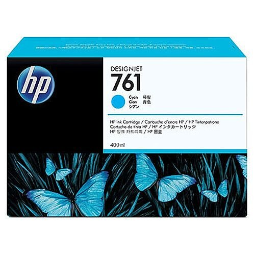 Hewlett Packard No761 Design Jet Inkjet Cartridge 400ml Cyan CM994A