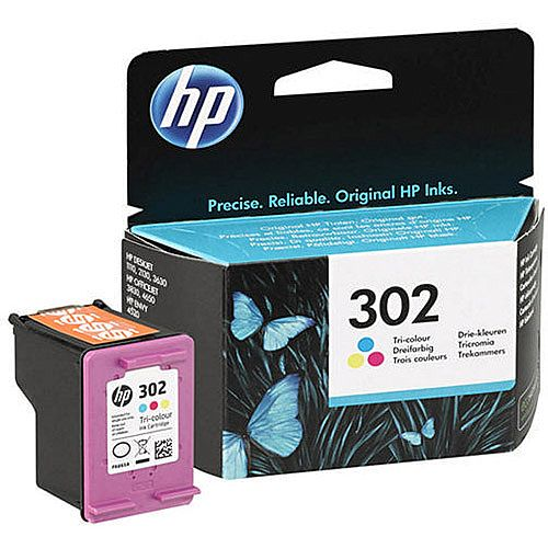 HP 302 Tri-Colour Cyan/Magenta/Yellow Ink Cartridge F6U65AE