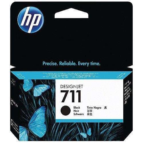 HP 711 Black DesignJet Ink Cartridge 80ml Pack of 2 P2V31A