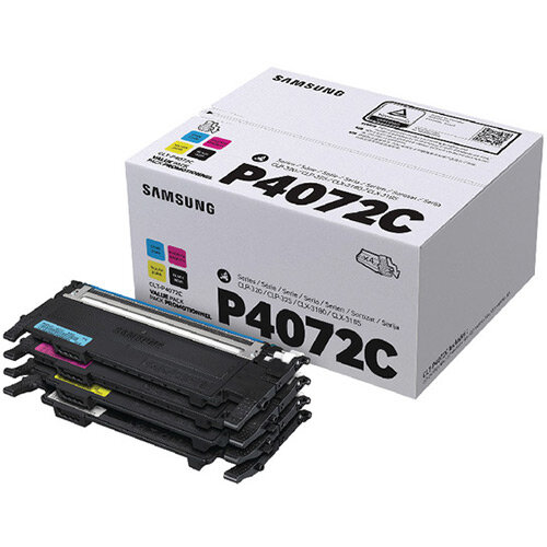 Samsung CLT-P4072C CYMK Toner Cartridges Pack of 4 SU382A