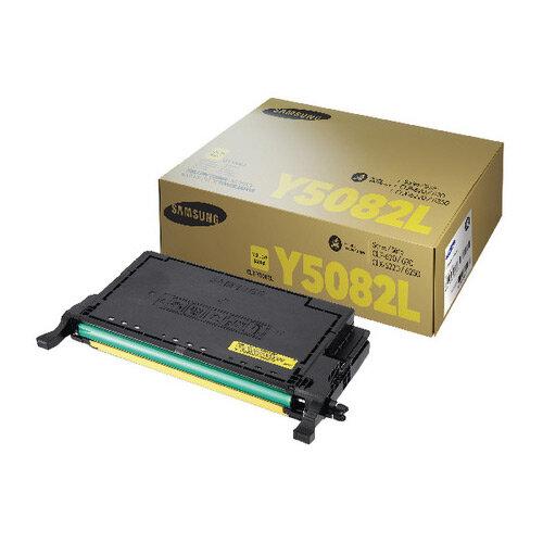 Samsung CLT-Y5082L Yellow High Yield Toner Cartridge SU532A