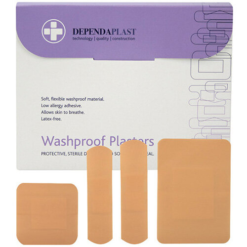 Reliance Medical Dependaplast Washproof Plasters Pack of 100 536