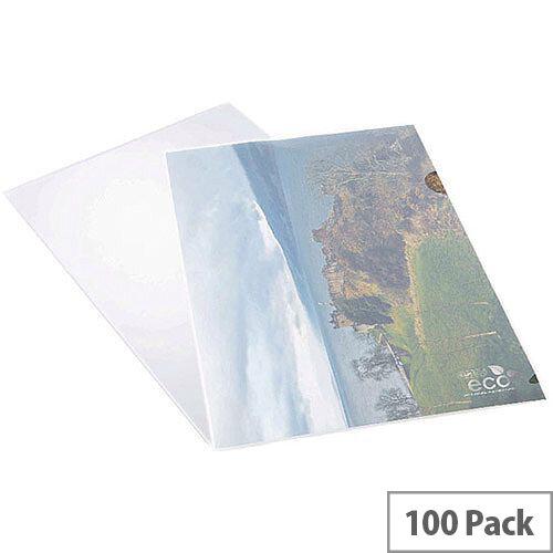 Rapesco ECO Cut Flush Folders A4 Clear Pack Of 100