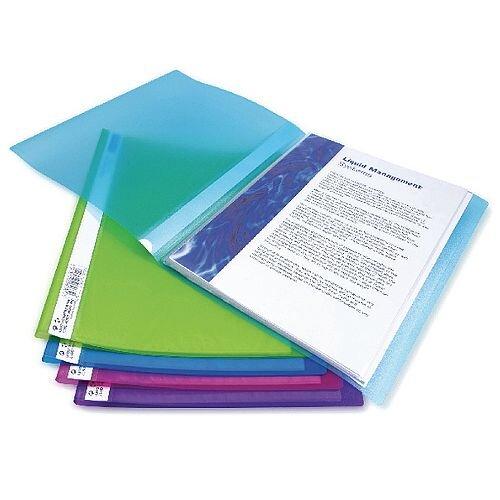 Rapesco A4 Flexi Display Book 20 Pocket Bright Assorted 10pk