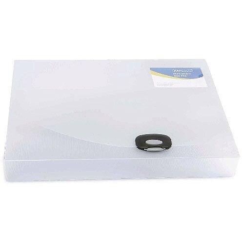 Rapesco A4 Plus Rigid Wallet/Box File 40mm Clear 0711