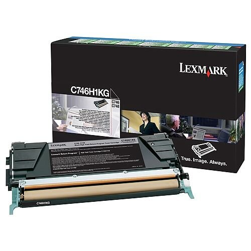 Lexmark C746H1KG Black High Yield Return Programme Toner Cartridge