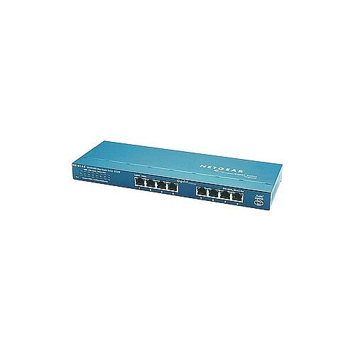 Netgear ProSafe GS108 8 Ports Ethernet Switch 8 x Gigabit Ethernet Network 2 Layer Supported Wall Mountable