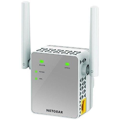 Netgear EX3700 IEEE 802.11ac 750 Mbit/s Wireless Range Extender 2.40 GHz 5 GHz 2 x External Antennas 1 x Network RJ-45 Wall Mountable