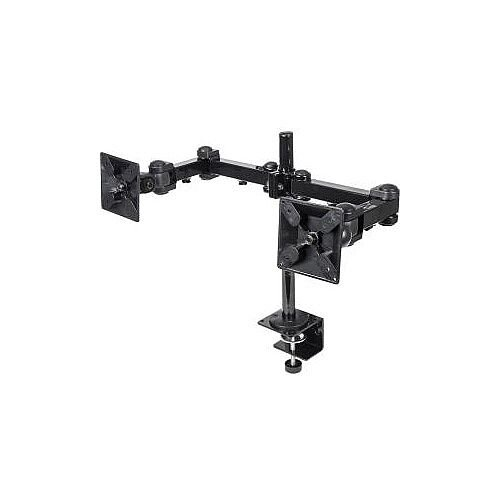 Manhattan 420808 Mounting Pole for Flat Panel Display 33 cm 13in to 61 cm 24in Screen Support 13.97 kg Load Capacity Die-cast Metal Black