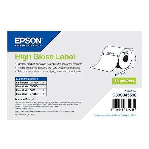 Epson Multipurpose Label 102mm Width x 33m Length Inkjet