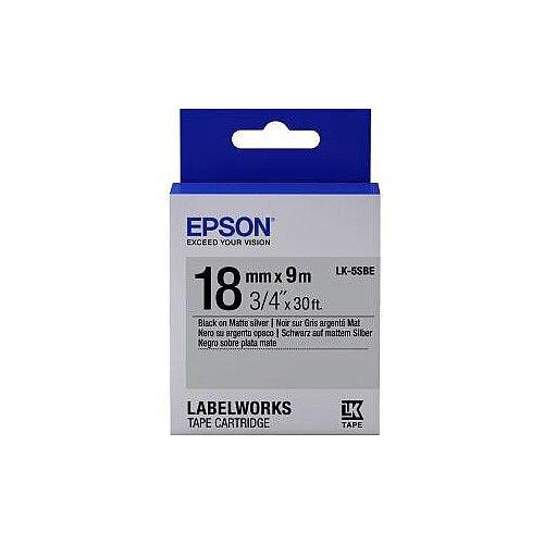Epson Label Tape 18mm Width x 9m Length Silver C53S655013