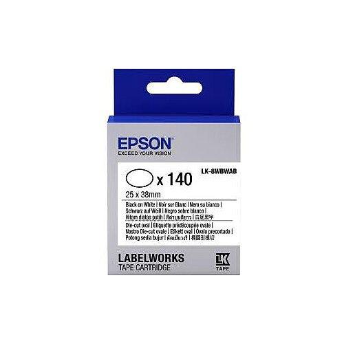 Epson Label Tape 6mm Width x 9m Length White C53S658902