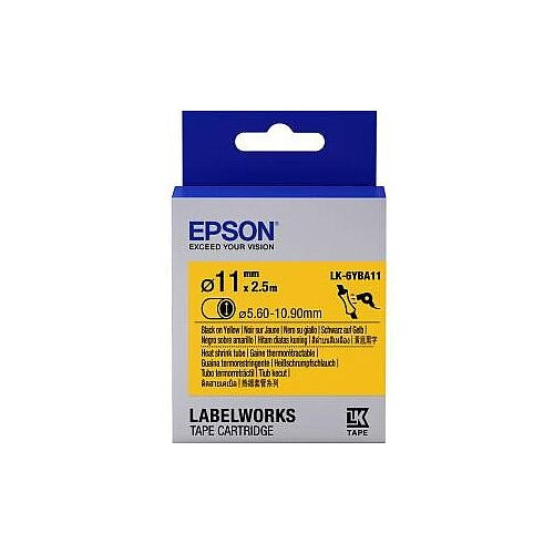 Epson LabelWorks LK-6YBA11 Wire &Cable Label 24mm Width x 3m Length Thermal Transfer Yellow C53S656904