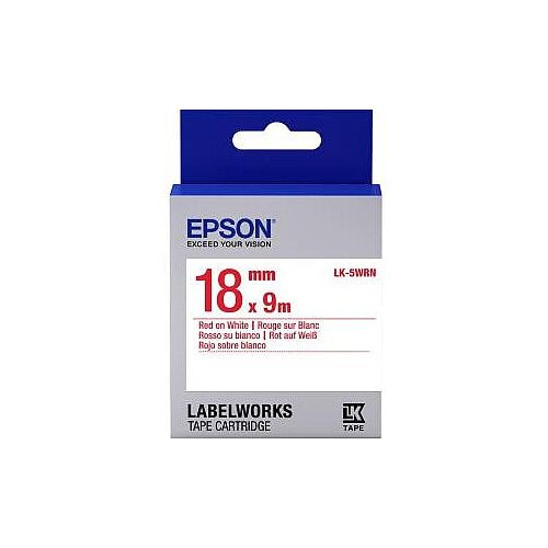 Epson Label Tape 18mm Width x 9m Length White C53S655007