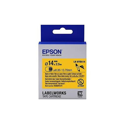 Epson LabelWorks LK-6YBA14 Label Tape 24mm Width x 3m Length Thermal Transfer Yellow C53S656905