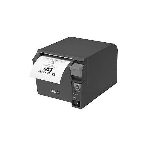 Epson TM-T70II Direct Thermal Printer Monochrome Desktop Receipt Print 250 mm/s Mono 180 x 180 dpi 4 KB USB Ethernet Receipt, Thermal Paper 83mm Roll Dia