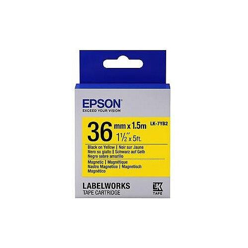 Epson LK-7YB2 Label Tape 36mm Width x 1500mm Length Rectangle Yellow C53S657008