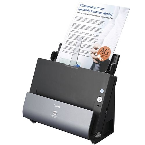 Canon imageFORMULA A4 DR-C225W II Sheetfed A4 Scanner - Speed: 25 ppm (Mono) - 25 ppm (Color), 600 dpi Optical - 24-bit Color - Duplex Scanning - USB