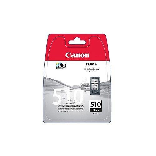 Canon PG-510 Original Ink Cartridge Black Inkjet 220 Pages 1 Pack