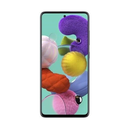 Samsung Galaxy A51 Black - Display 6.5-inch, CPU 2.3GhZ, RAM 4GB, Storage 128GB, Quad 48MP Camera, Dual-SIM, 4G LTE, Android 10 OS, USB-C - Colour: Black