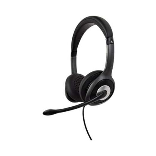 V7 Deluxe HU530C Wired Over-the-head Stereo Headset - USB-C - Circumaural - 32 Ohm - 20 Hz to 20 kHz - Noise Cancelling, Omni-directional Microphone - Black