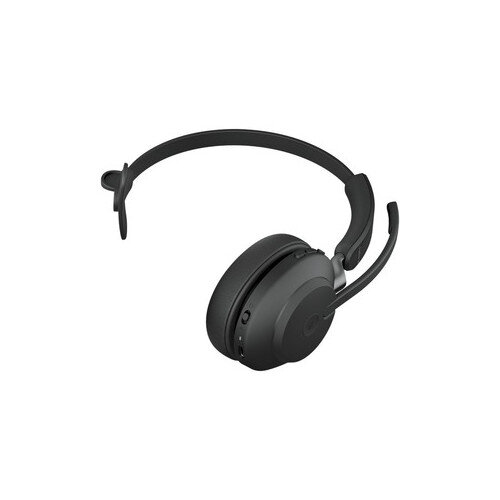Jabra Evolve2 65 MS Wireless Over-the-head Mono Headset MS - Supra-aural - Bluetooth - Noise Cancelling Microphone - Black