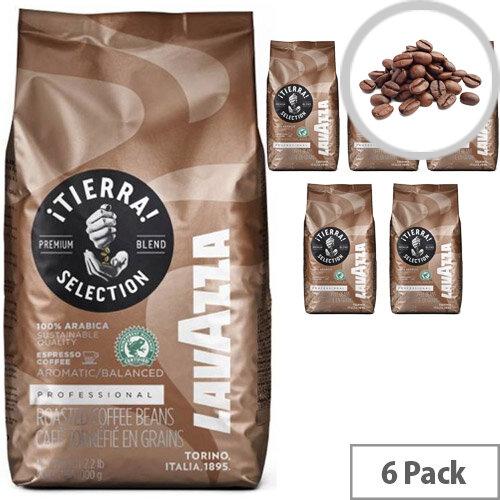 Lavazza iTierra Sel Rainforest Allaince Coffee Beans 6 x 1kg Bags