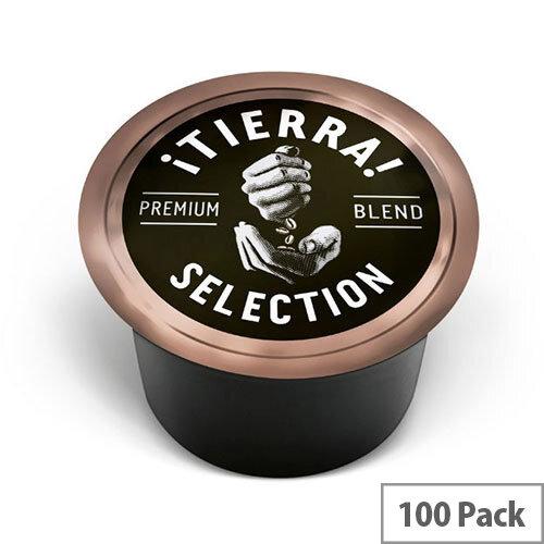 Lavazza Blue Espresso Tierra Coffee Capsules For Lavazza Blue Capsule System Coffee Machines - Pack of 100 Coffee Pods
