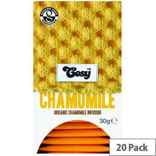 Cosy Chamomile Organic Tea 20 Individually Foil Wrapped Tea Bags - 20 Bags Per Pack